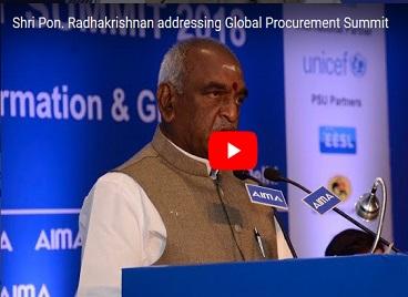 Shri Pon. Radhakrishnan addressing Global Procurement Summit