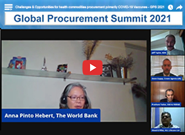 Challenges & Opportunities for health commodities procurement primarily COVID-19 vaccines - GPS 2021
